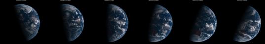 Shifting seasons viewed from Himawari-8