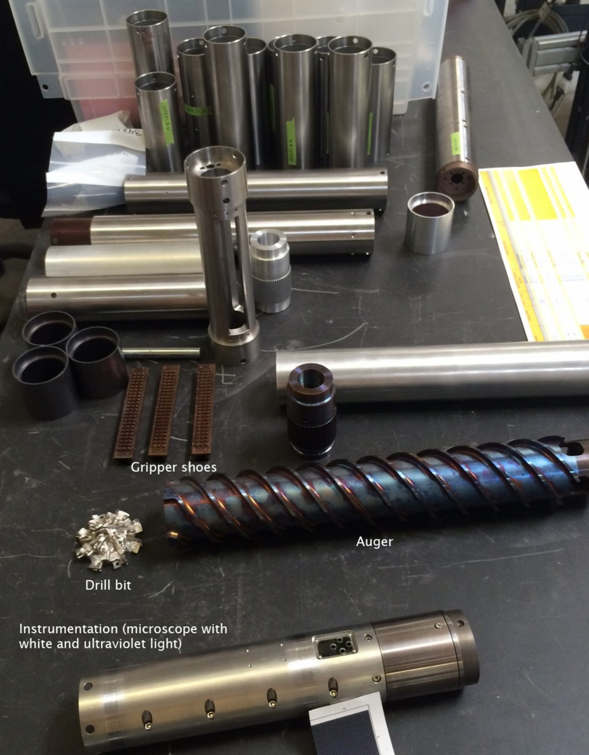 Planetary Deep Drill components