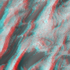 Eolian change detection in Trouvelot Crater