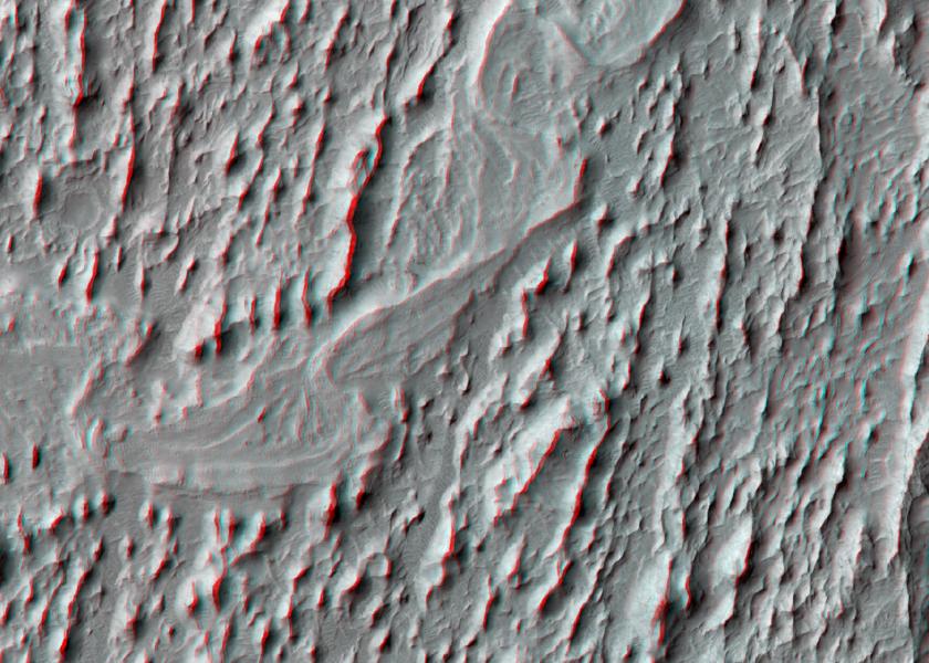 Meanders in ridge form in Zephyria region