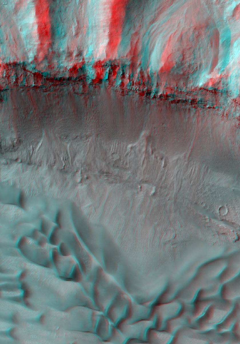 East Coprates Chasma dune fields and wall rock