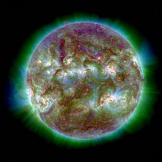 STEREO-B ultraviolet image of the Sun, September 18, 2012