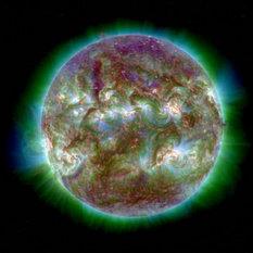 STEREO-B ultraviolet image of the Sun, September 18, 2012