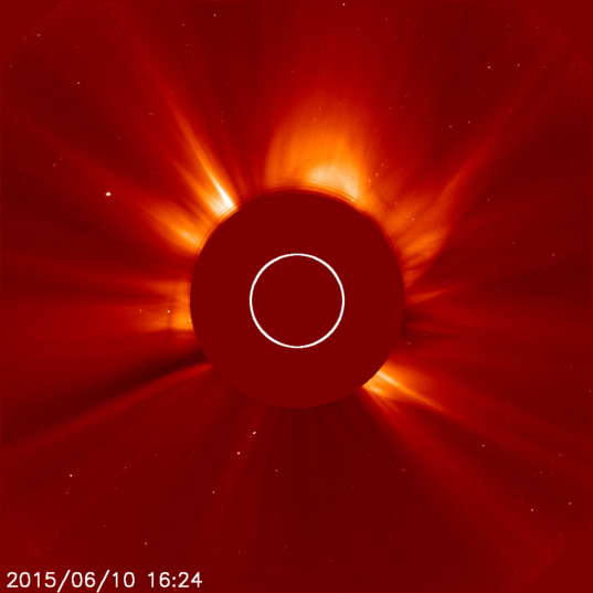 The Sun from SOHO, June 10, 2015