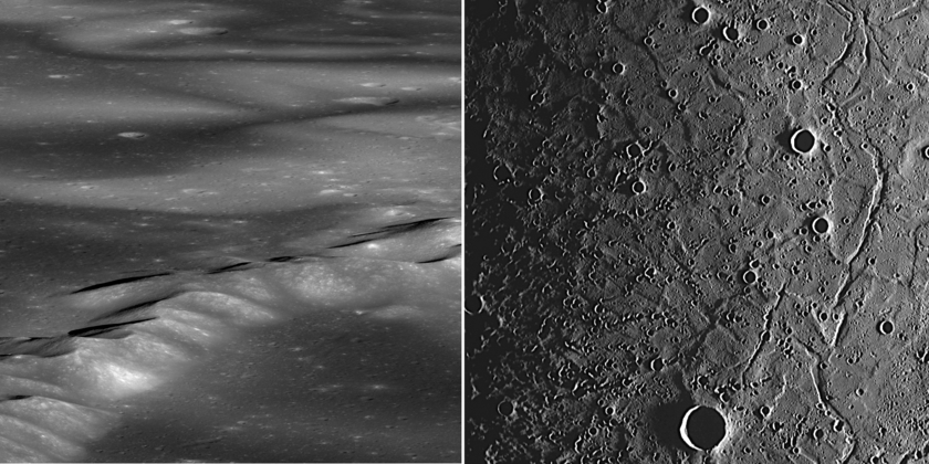 Mercury and the Moon: Spectacular Landscapes