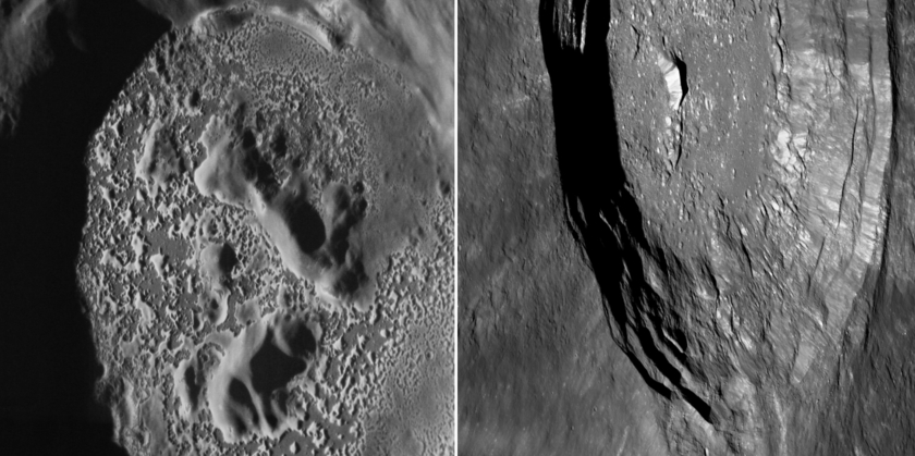 Mercury and the Moon: Craters