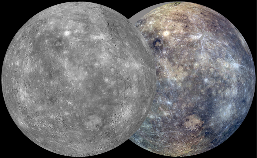 Mercury Map after MESSENGER's first solar day