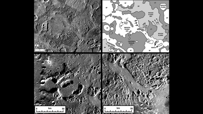 Spectacular volcanic features on Mercury