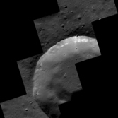 Hollows exposed in a small Mercury crater wall