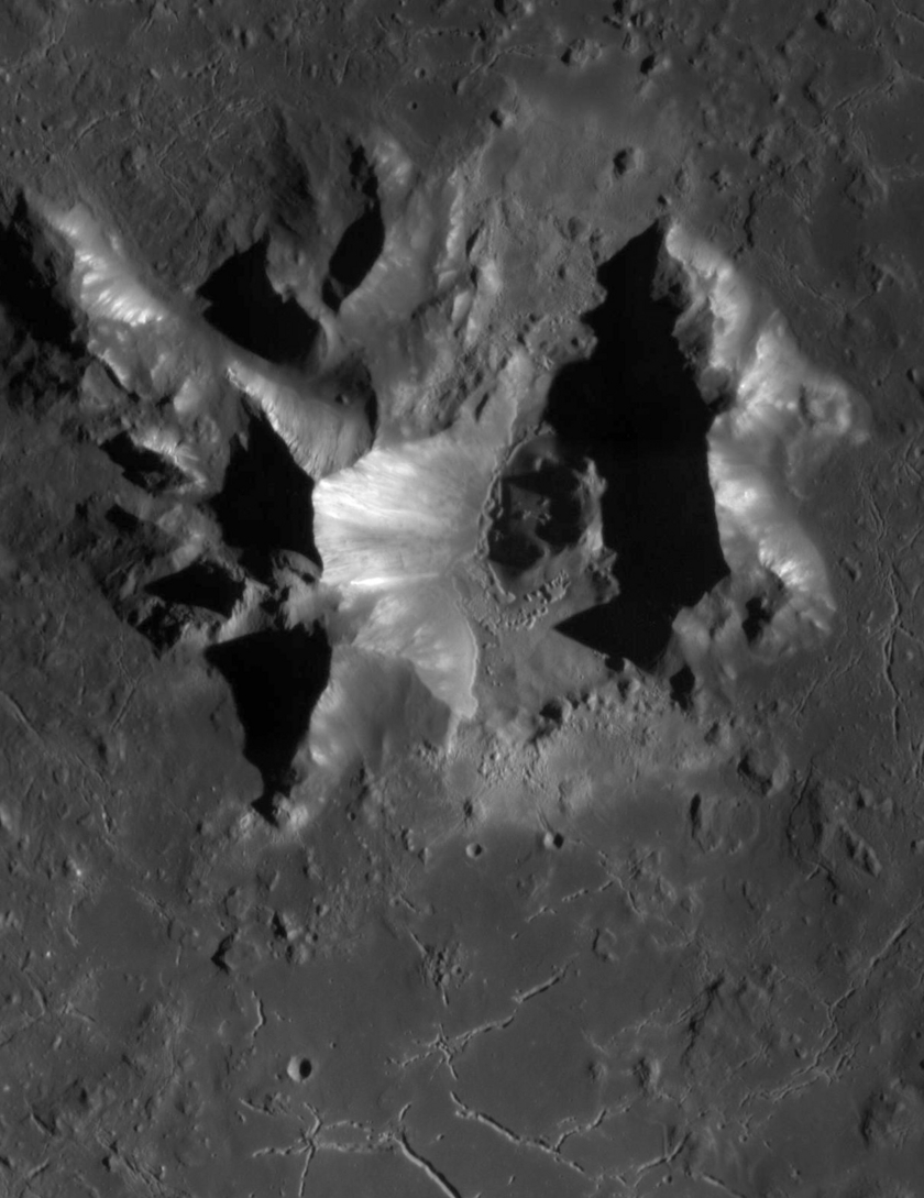 Degas Crater Central Peaks
