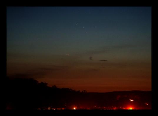 Mercury and the Pleiades, April 30, 2015