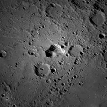 Volcanic vent on Mercury
