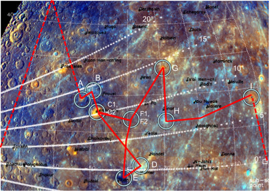 Targeted observations during the third MESSENGER flyby of Mercury