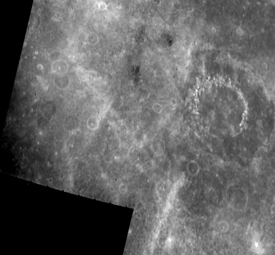 Vivaldi crater and environs from Mariner 10