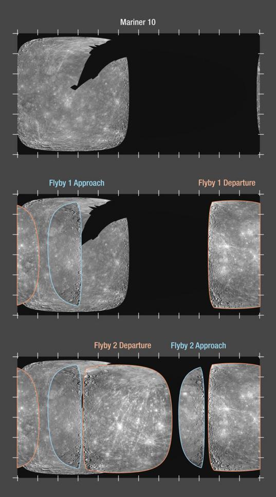 MESSENGER's enhanced coverage of Mercury's surface