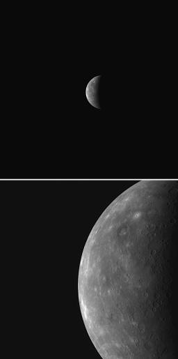 MESSENGER's wide- and narrow-angle camera views