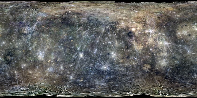 Global color map of Mercury from MESSENGER