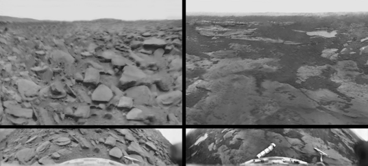 Rectified vs. original Venera 9 and 10 panoramas