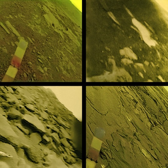 Venera views of the Venusian surface