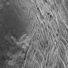 Ganis chasmata, Venus: Site of active volcanism? (detail)