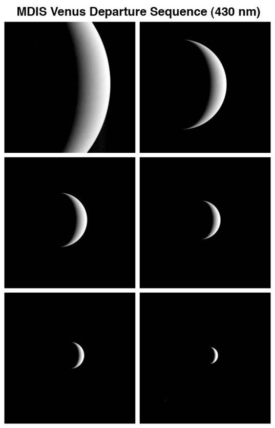 MESSENGER departs Venus
