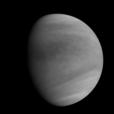 Akatsuki's first UVI image of Venus after orbit insertion