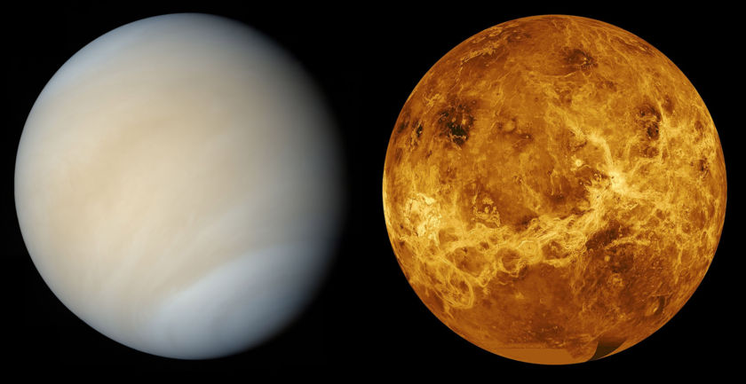 Two views of Venus