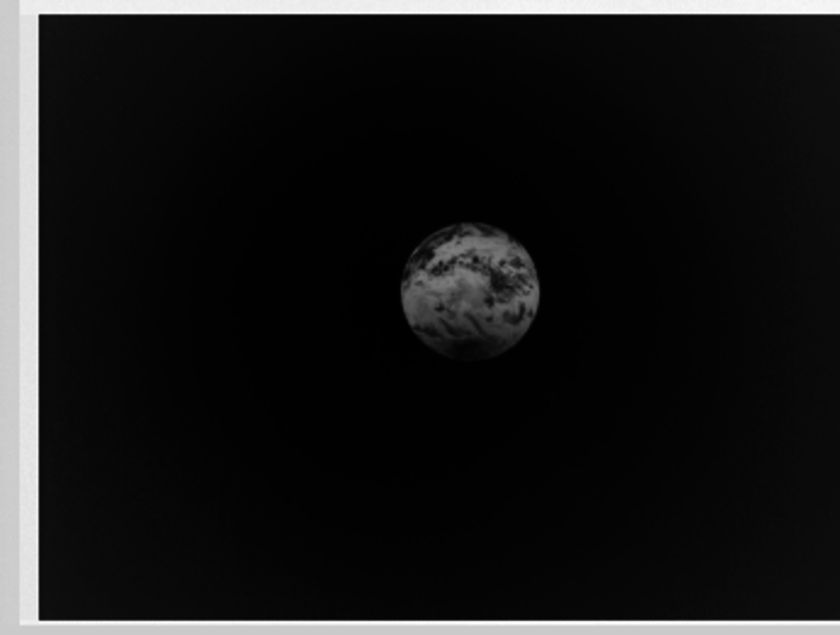 Earth as seen from Akatsuki's LIR camera