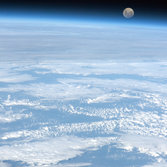 Moonrise from the Space Station