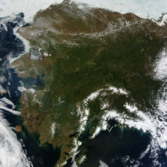 Rare cloud-free view of Alaska from Terra MODIS