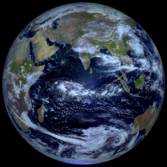 Earth from Russia's Elektro-L satellite