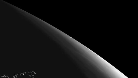 Chelyabinsk meteor vapor trail, February 15, 2013