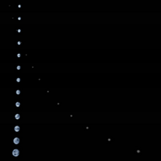 The Moon transiting Earth as seen from Juno