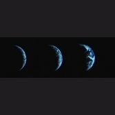 Three views of Earth from Chang'e 3
