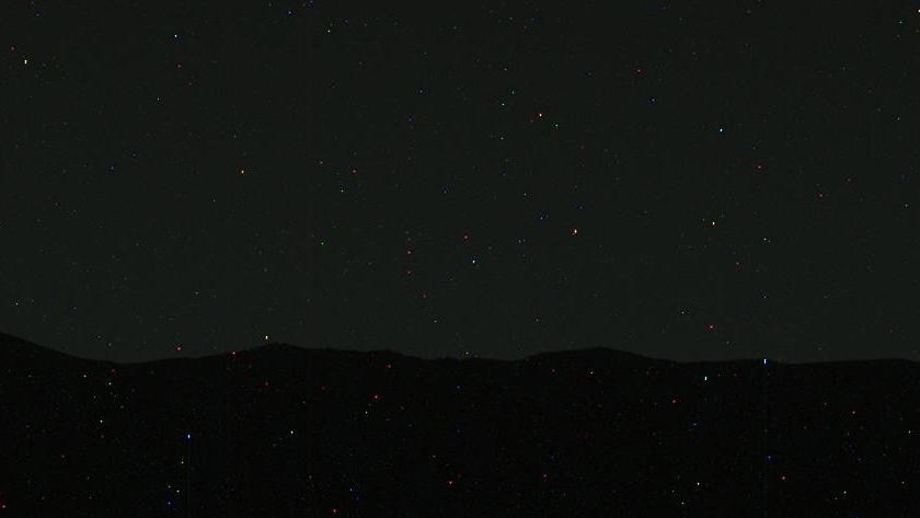 Raw data from Curiosity sol 529 mosaic of western horizon