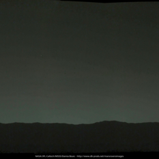 Earth sets over Gale crater