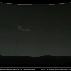You Are Here: Earth sets over Gale crater