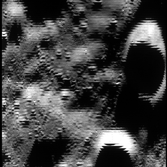 Example LROC WAC monochrome image data