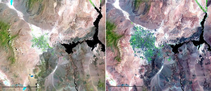 The growth of Las Vegas