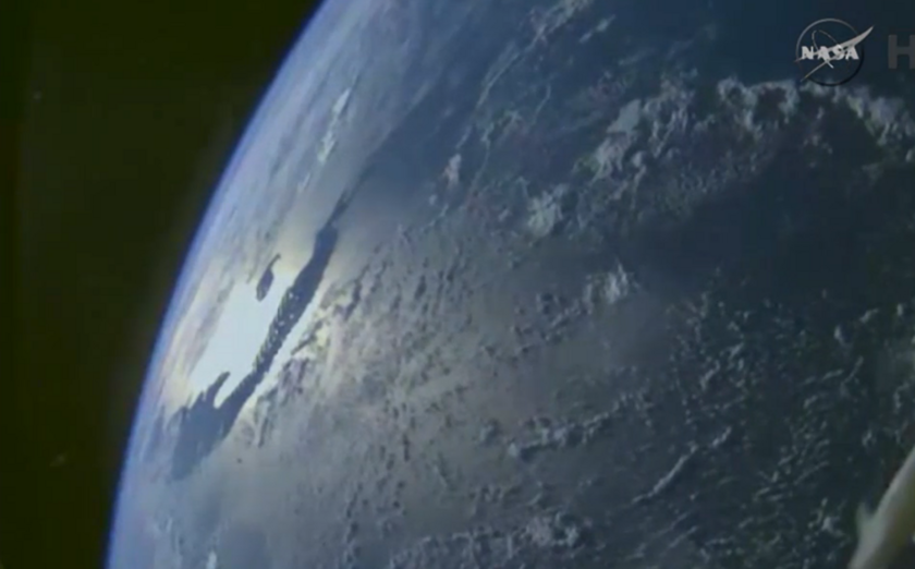 View of Earth out of Orion's window