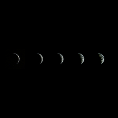 Five views of Earth from Chang'e 3