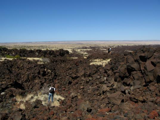 The lava flow up close