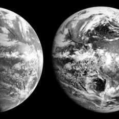 GOES geostationary weather satellite views of Earth, 15:00 May 2