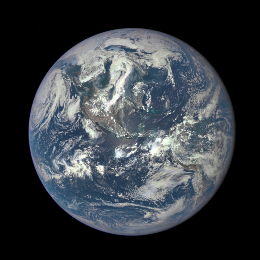 EPIC's first view of a full Earth from the Sun-Earth L1 point