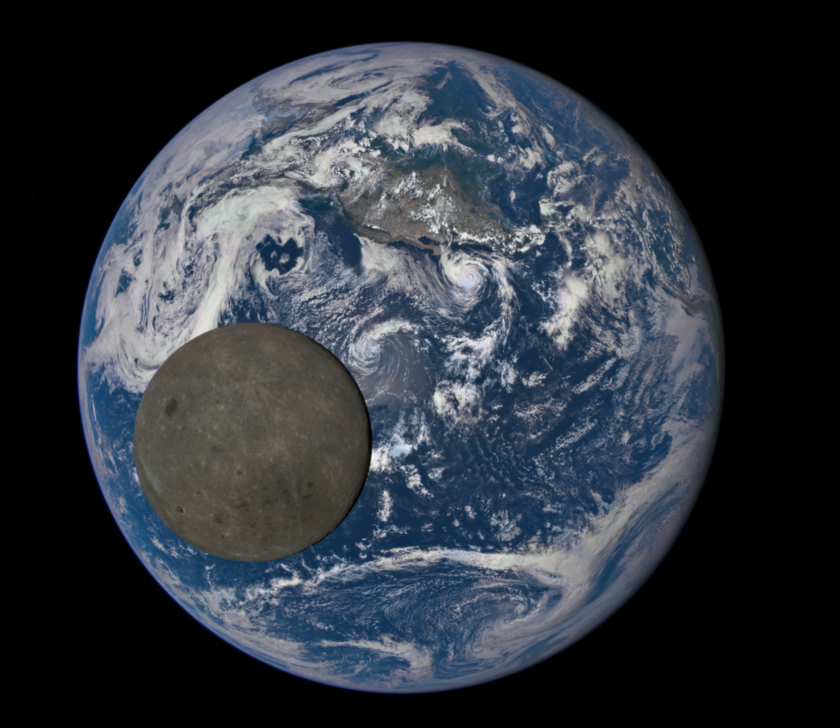 Earth and Moon from DSCOVR