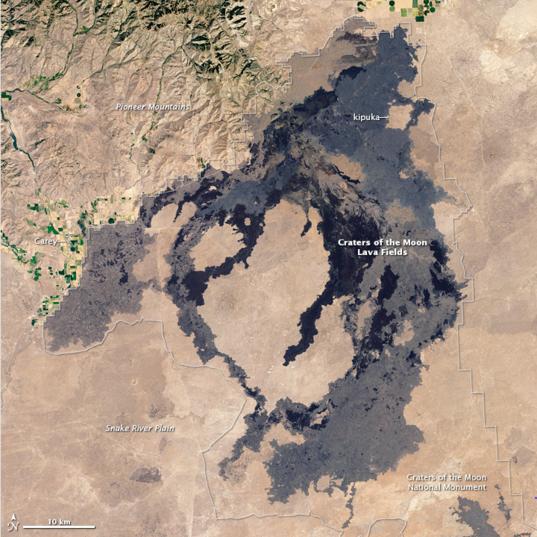 Bird's eye-view of COTM from Landsat
