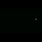 Hayabusa2 image of Earth and the Moon, November 26, 2015