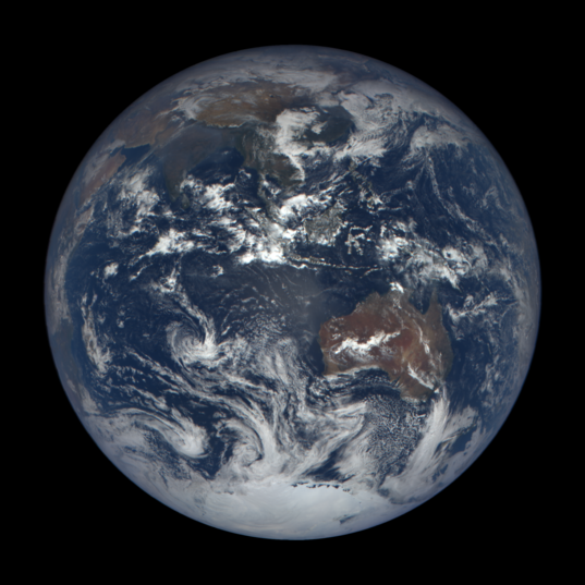 DSCOVR EPIC image of Earth, November 26, 2015