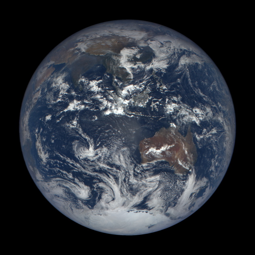 DSCOVR EPIC image of Earth, November 26, 2015