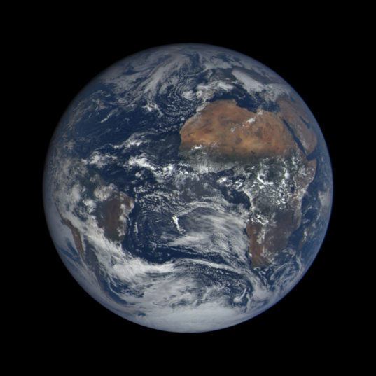 DSCOVR EPIC image of Earth on October 12, 2015